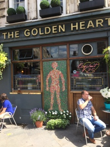 5/12 The Golden Heart pub, Shoreditch, favourite YBA watering hole, run by Sandra Esquilant. She wasn't there on the day, but I left her a copy as well.